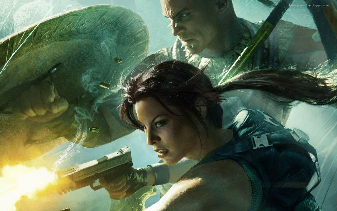 video games Lara Croft wallpaper