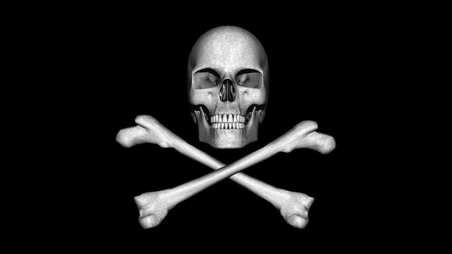 skulls CGI pirates wallpaper