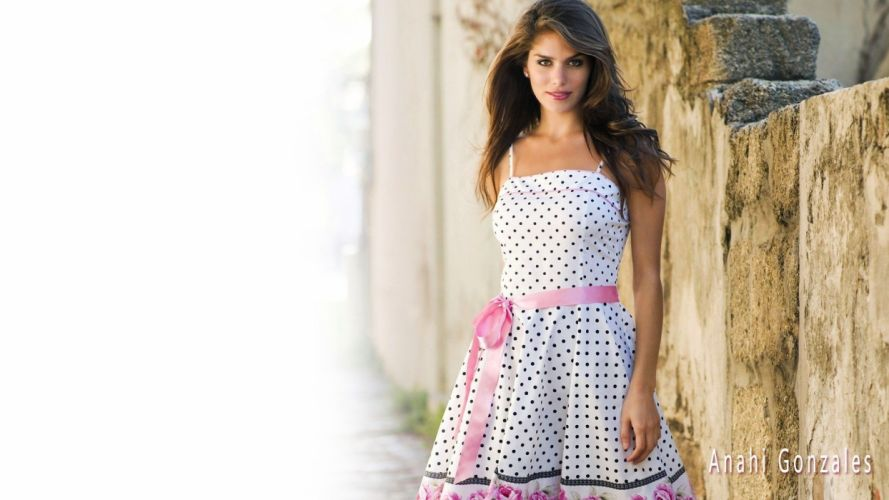 brunettes women Anahi Gonzales models wallpaper