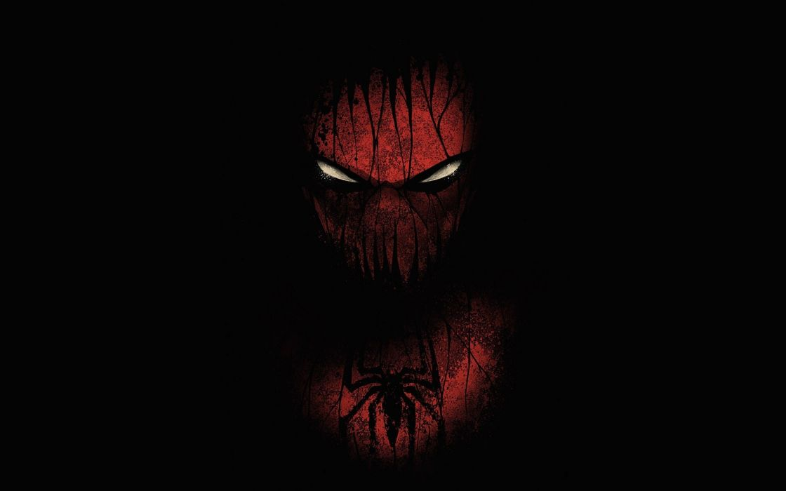 Black Red Spider-Man Artwork Marvel Comics Black