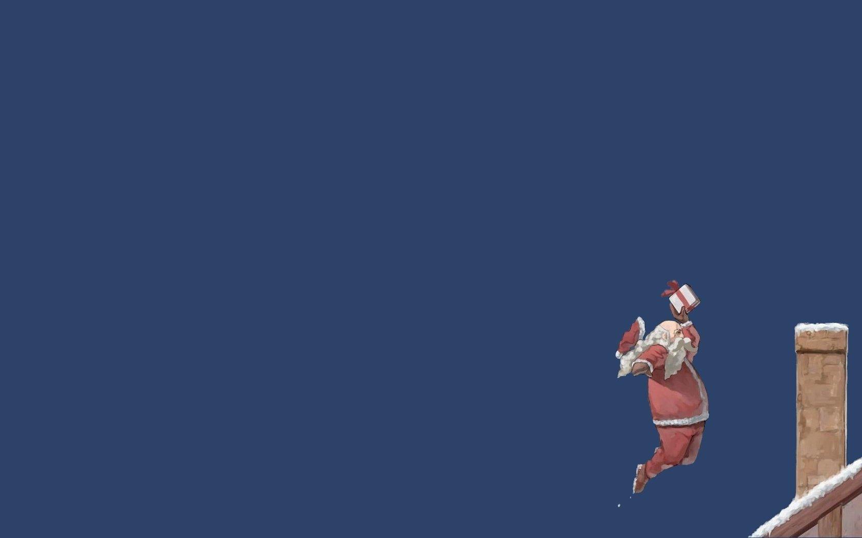 funny christmas santa claus basketball wallpaper 1680x1050 258639 wallpaperup - Funny Christmas Wallpaper