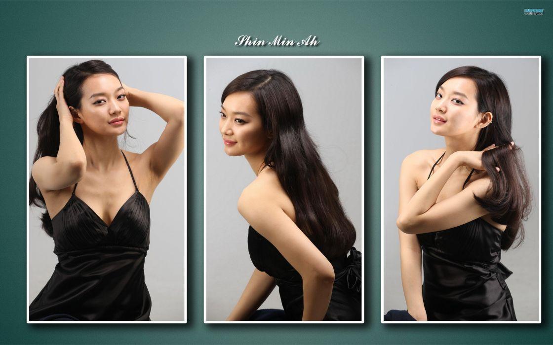 women jeans models fashion Korean Min Ah potraits shin min ah wallpaper