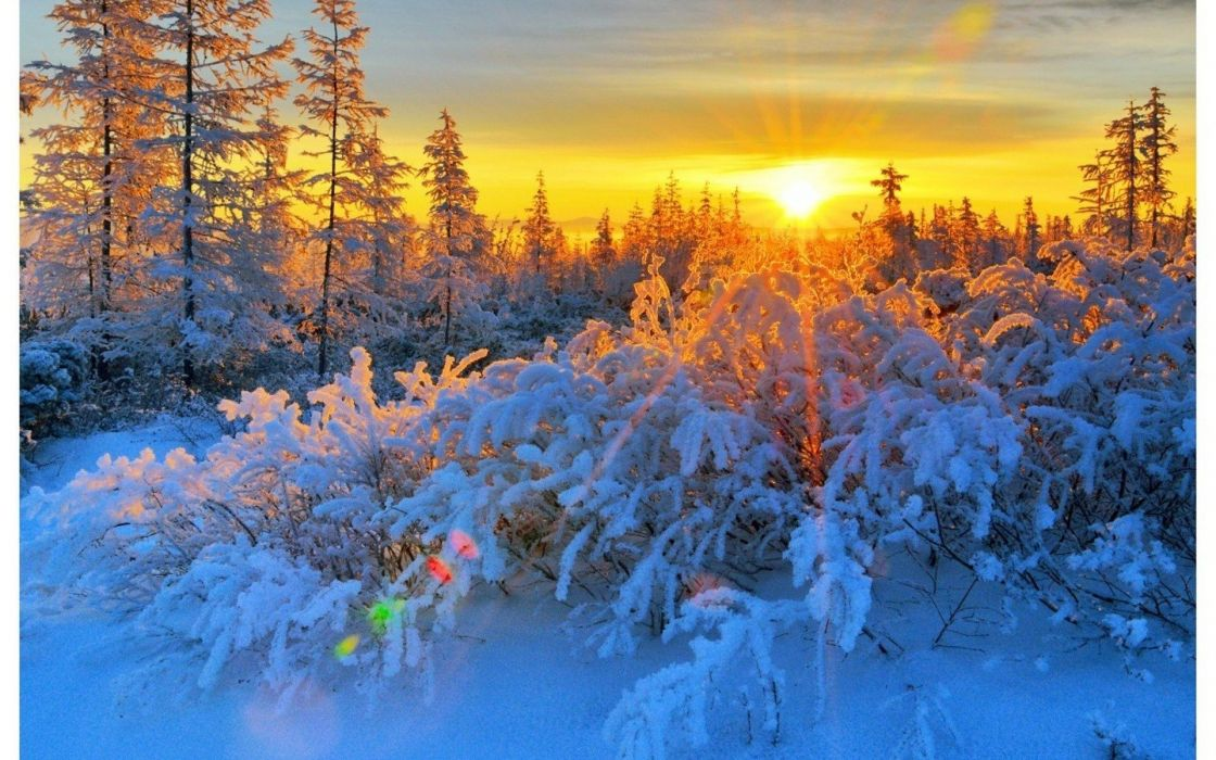 sunset landscapes nature winter wallpaper