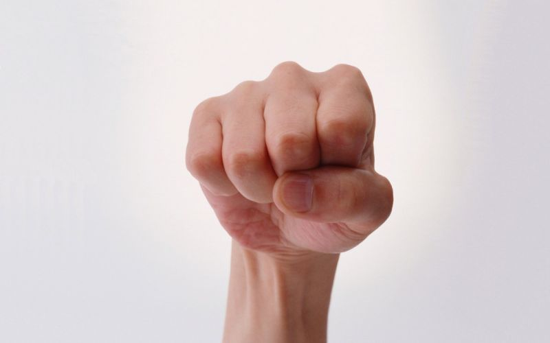 hands fists simple background wallpaper