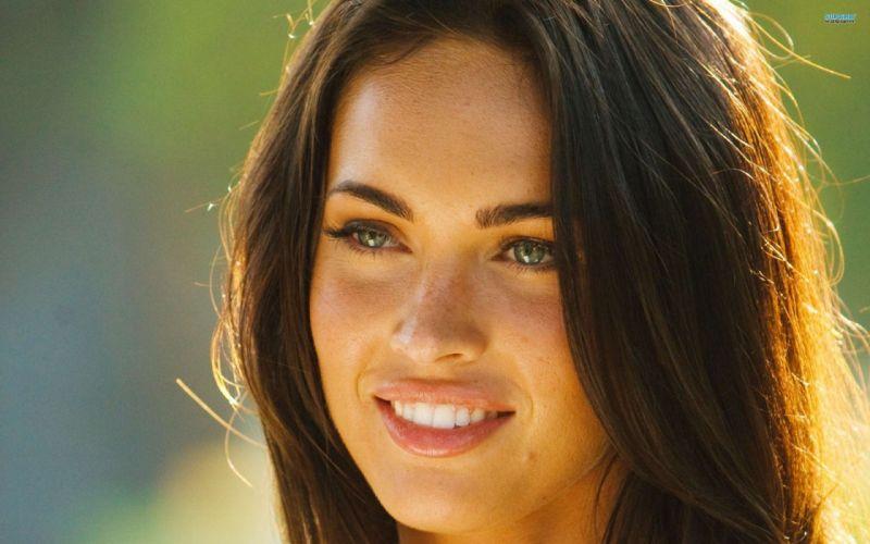brunettes women Megan Fox actress models Hollywood wallpaper
