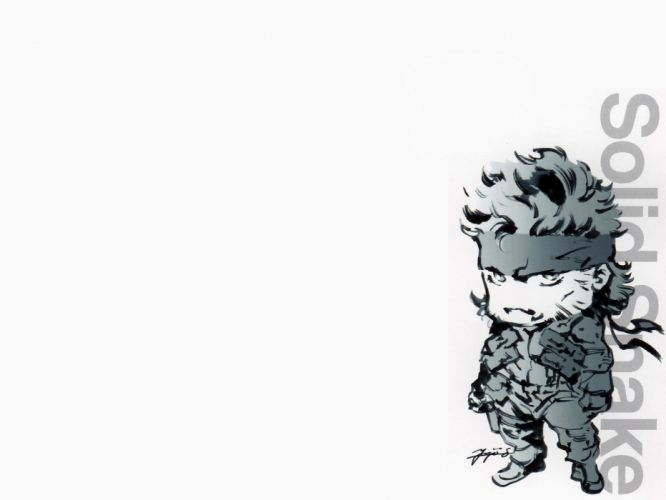 Metal Gear Solid Solid Snake simple background wallpaper