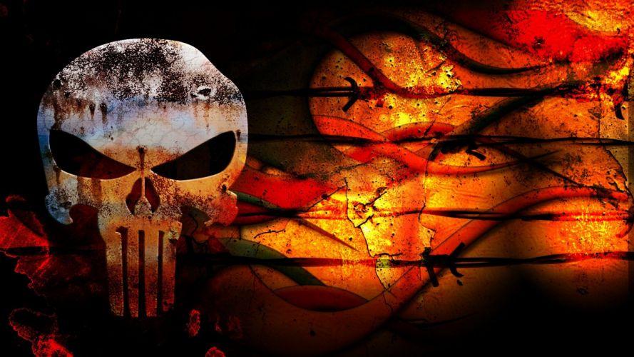 grunge The Punisher blank wallpaper