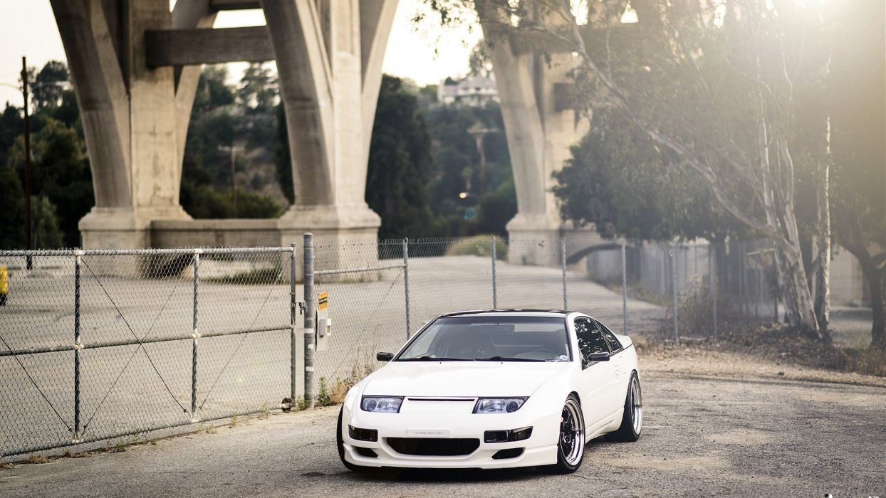 cars tuning Nissan 300Zx rims white cars tuned stance wallpaper