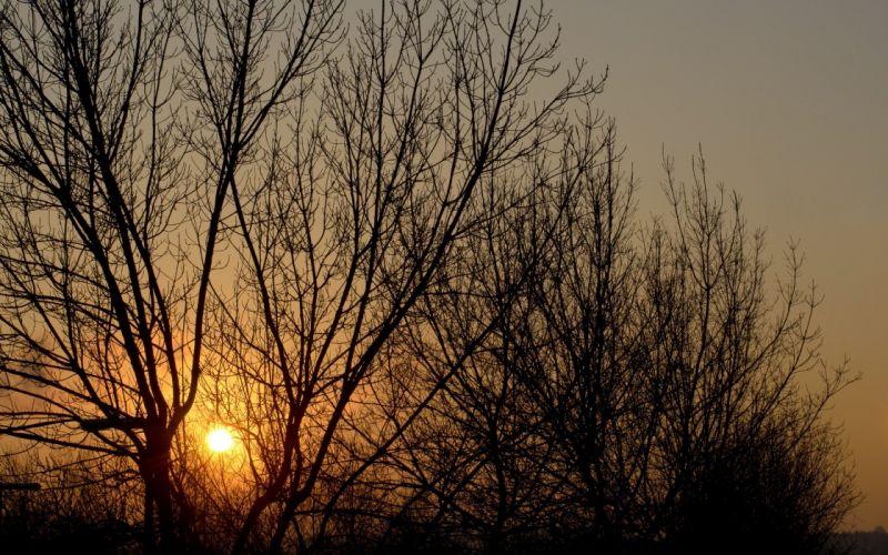 sunset clouds Sun skies wallpaper
