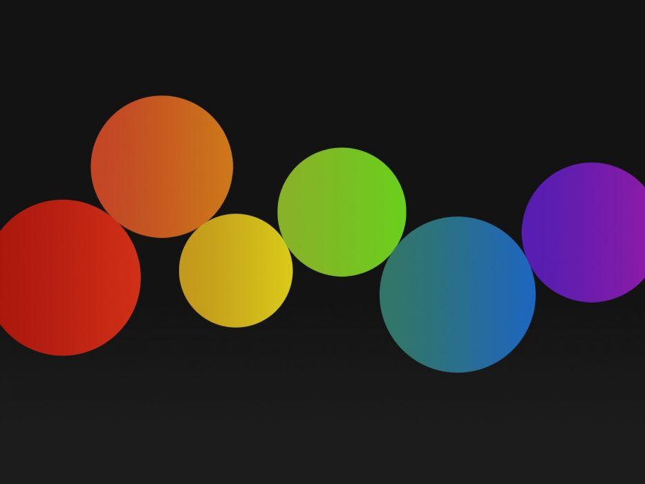minimalistic multicolor circles black background wallpaper