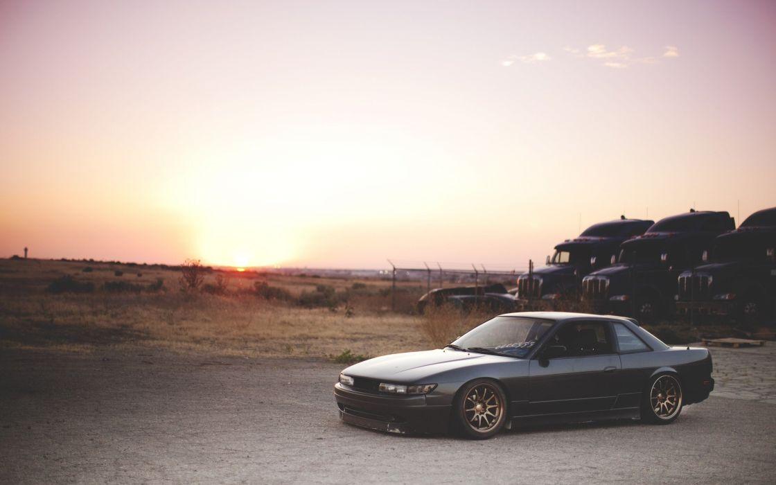 cars Nissan vehicles Nissan Silvia Nissan Silvia S13 wallpaper