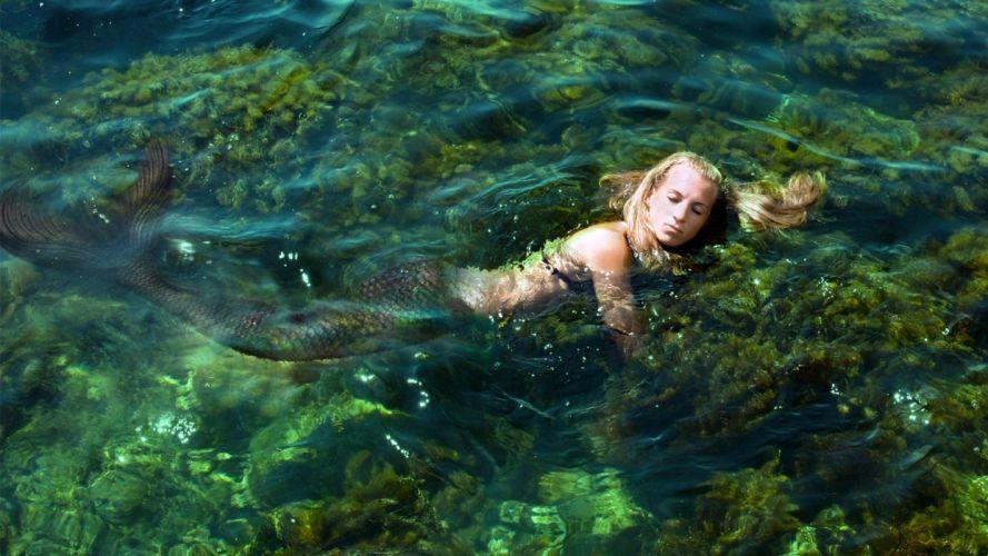women water mermaids wallpaper