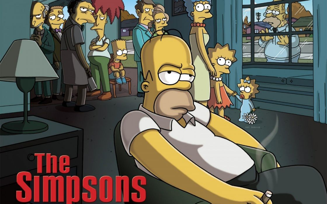 cartoons The Simpsons series The Sopranos wallpaper
