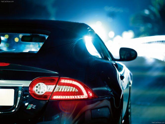 black lights cars Jaguar XKR wallpaper
