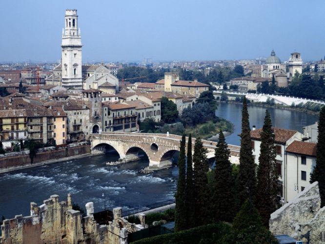 cityscapes Italy Verona wallpaper