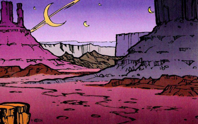 Calvin and Hobbes Spaceman Spiff wallpaper
