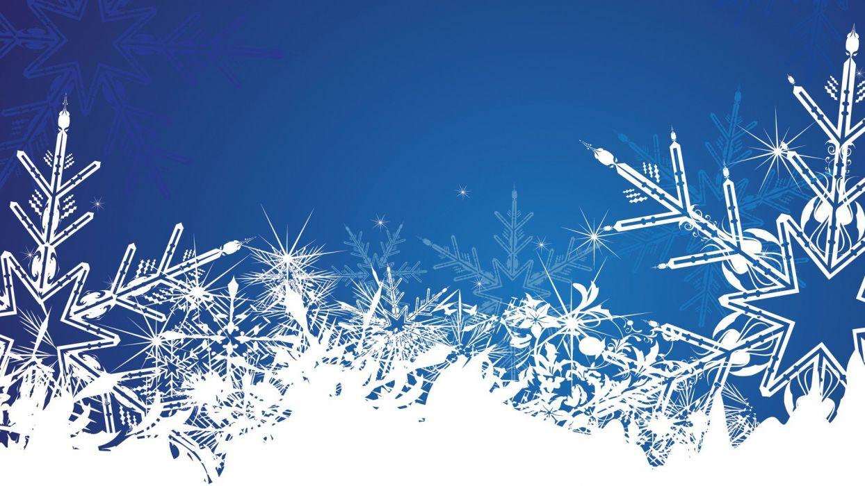 winter vectors illustrations snowflakes blue background vector art wallpaper