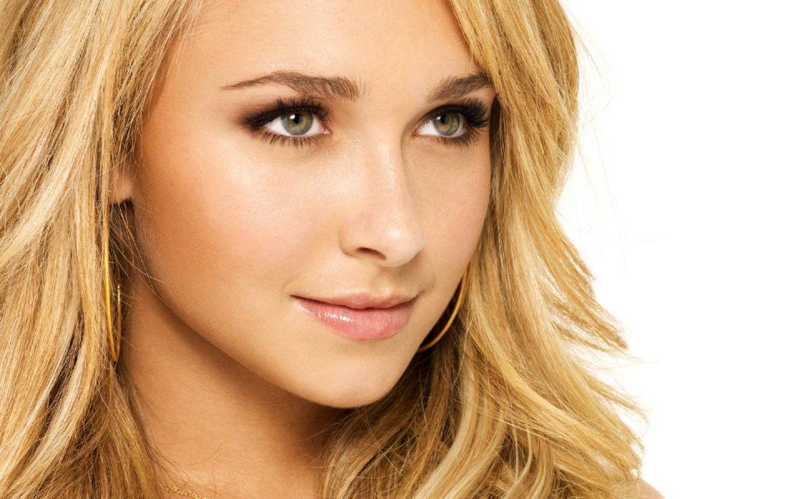 blondes women actress Hayden Panettiere celebrity faces wallpaper