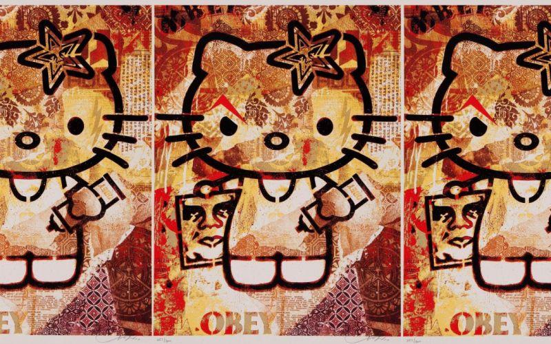 obey Hello Kitty wallpaper