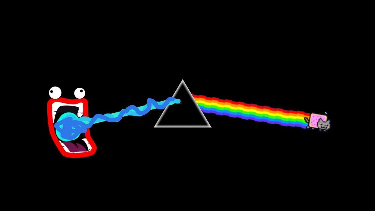 Pink Floyd Nyan Cat Shoop Da Whoop wallpaper