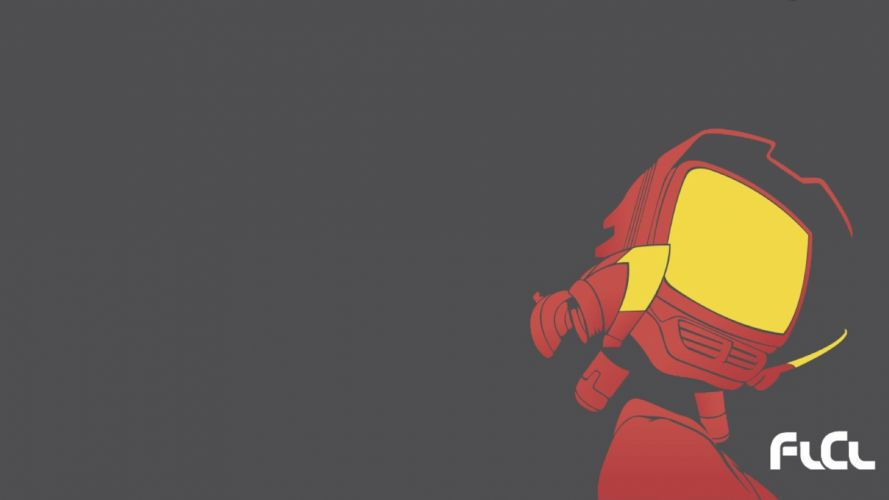 FLCL Fooly Cooly Canti simple background wallpaper