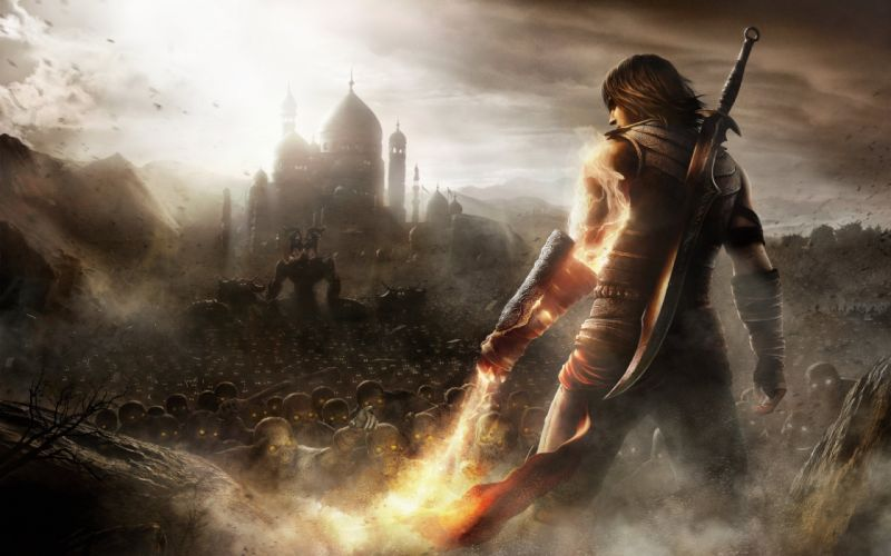 video games sand army wall weapons fantasy art Prince of Persia wallpaper