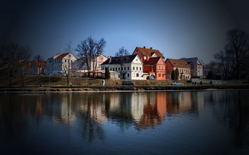 landscapes trees cityscapes houses urban buildings lakes cities wallpaper