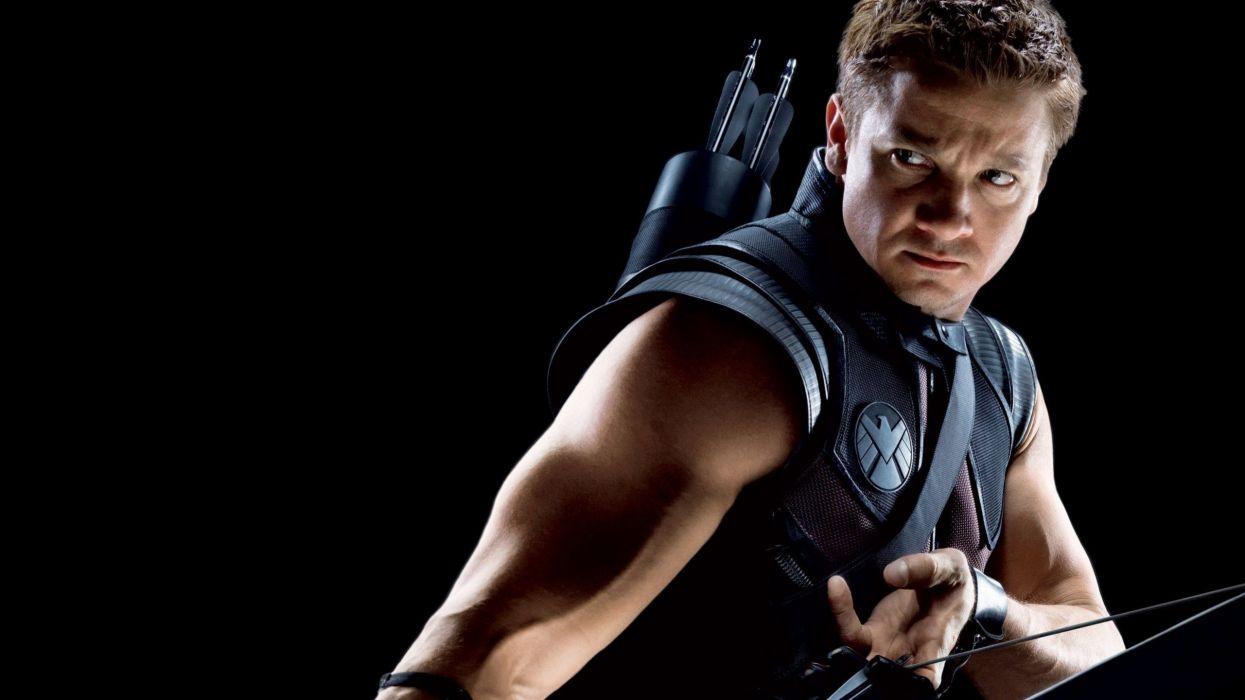 Hawkeye Clint Barton Jeremy Renner The Avengers (movie) black background wallpaper