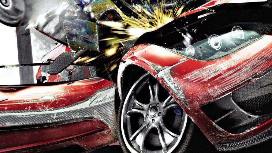 cars crash wallpaper
