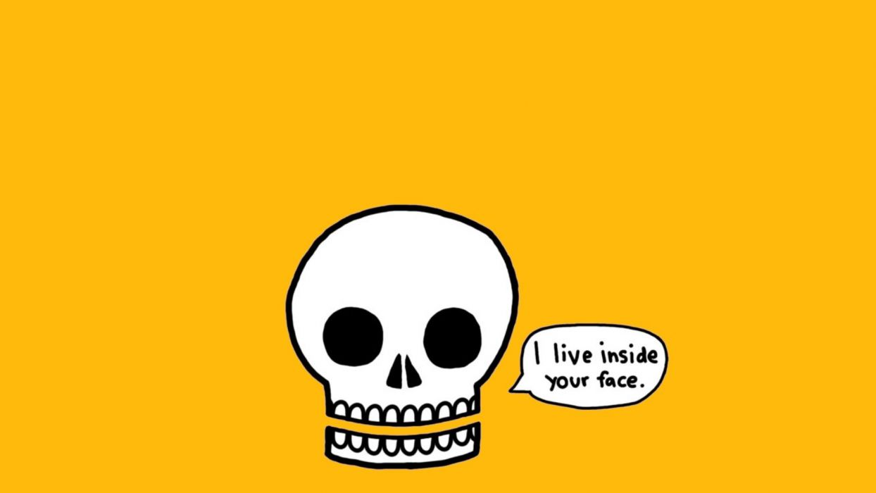 skulls minimalistic funny wallpaper