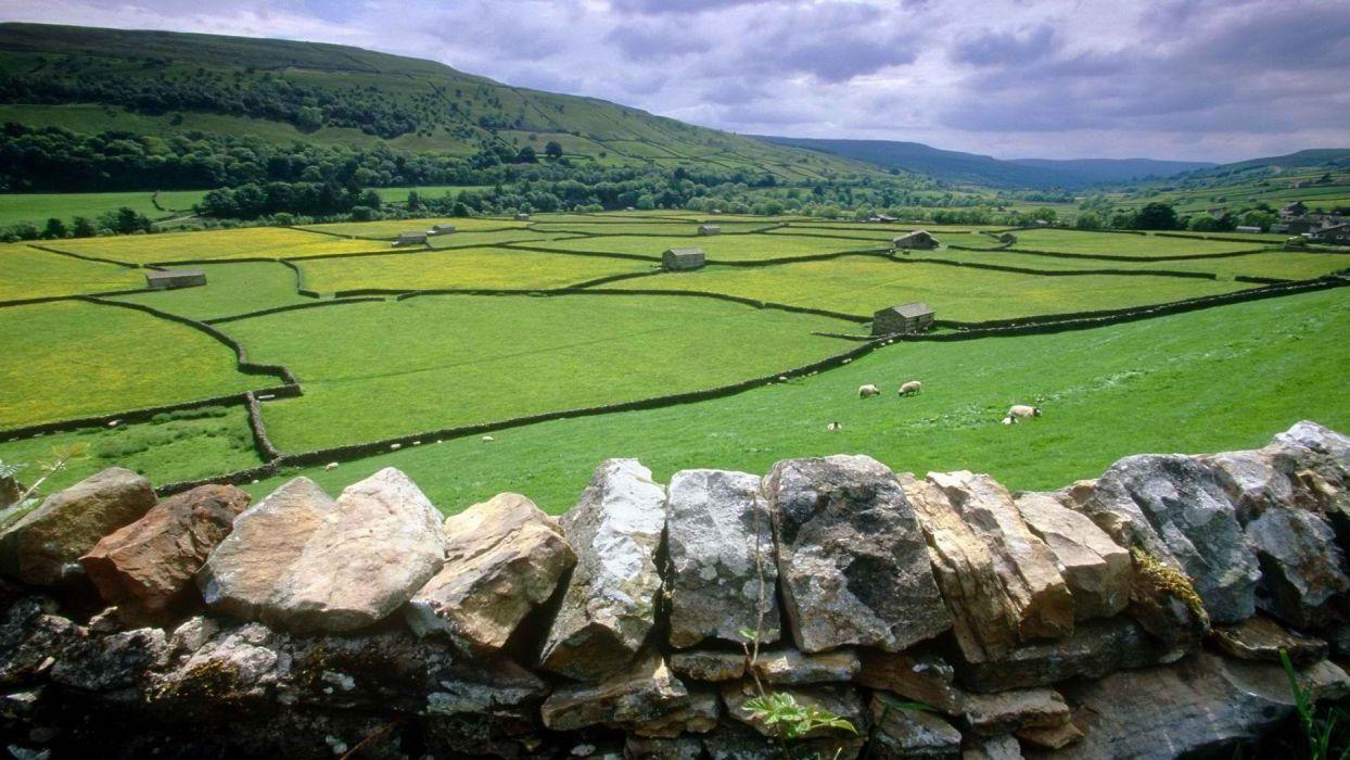 valleys United Kingdom Yorkshire wallpaper