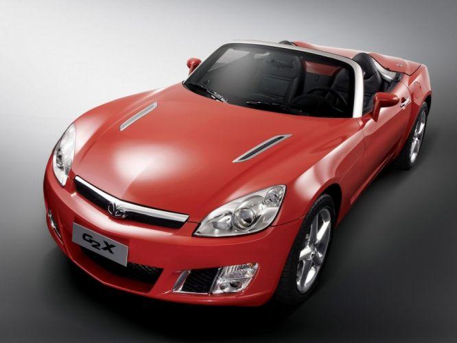 red cars Daewoo convertible simple background Daewoo G2X wallpaper