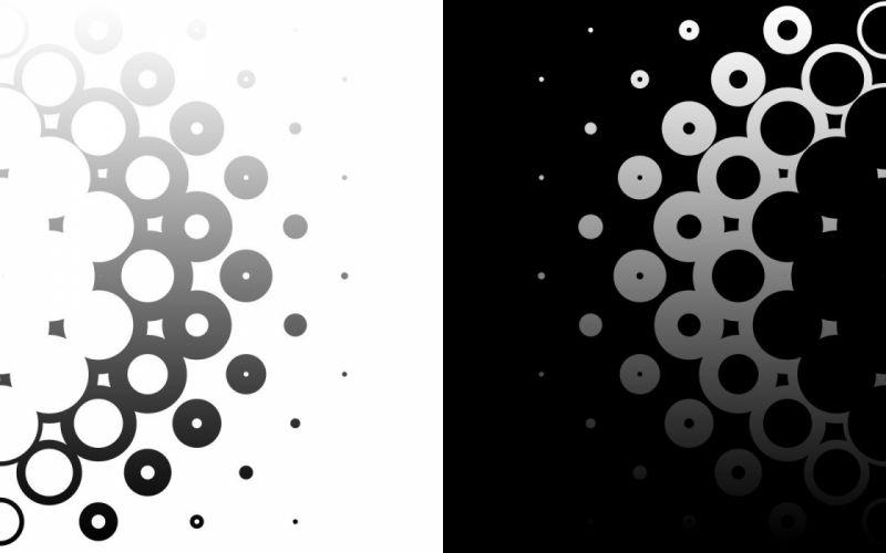 black white circles monochrome modern wallpaper