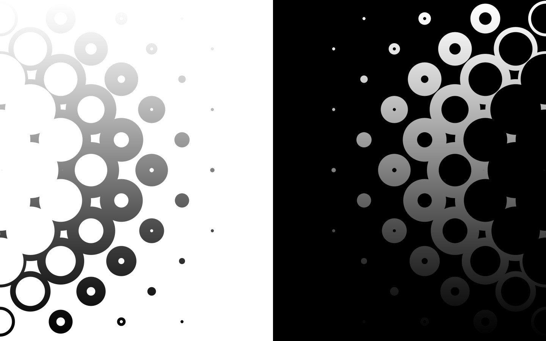 black white circles monochrome modern wallpaper 1440x900