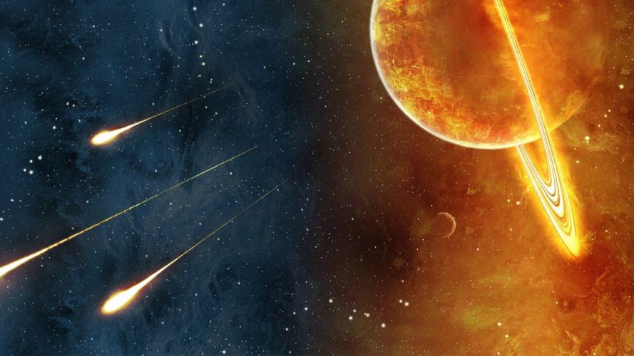 outer space stars galaxies planets artwork wallpaper