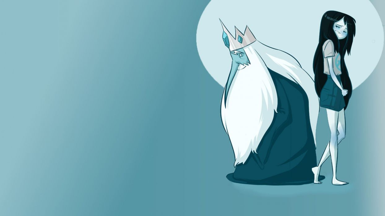 Simon Adventure Time Marceline the Vampire Queen Ice King Little Marcy Marcy wallpaper