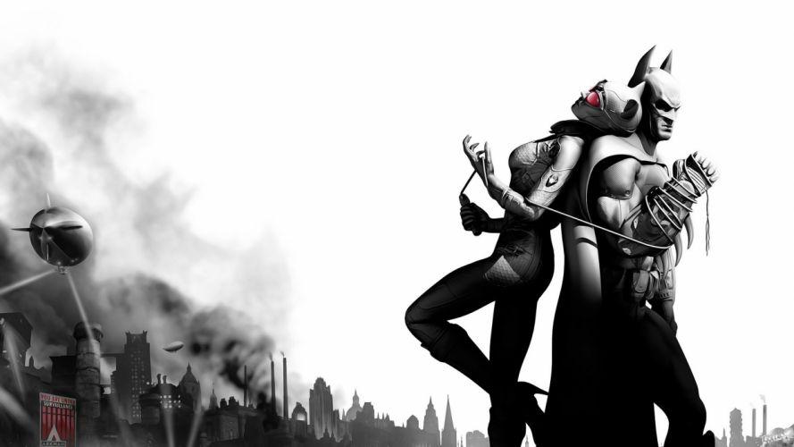 Batman comics Catwoman gaming Batman Arkham Asylum wallpaper