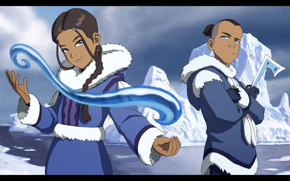 Avatar The Last Airbender Katara Sokka Waterbender Wallpaper