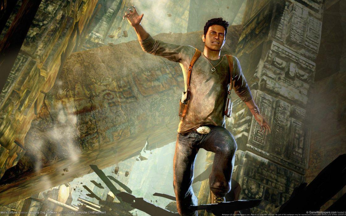 Video Games Men Artwork Uncharted 3 Fan Art Jump Games Art