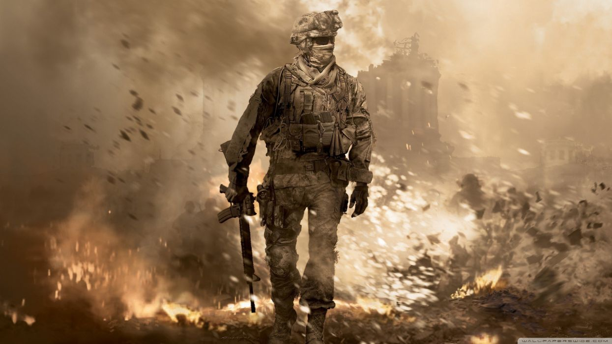 soldiers video games explosions wallpaper