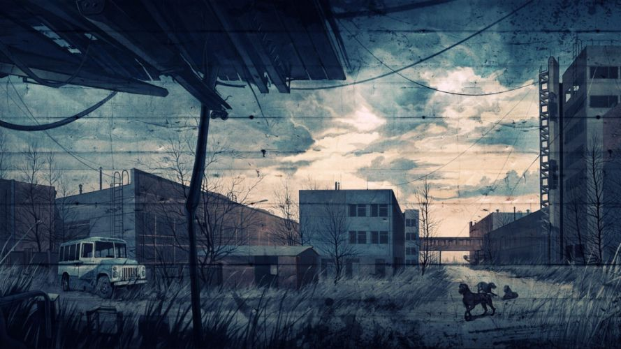 video games S_T_A_L_K_E_R_ fences buildings Chernobyl wallpaper
