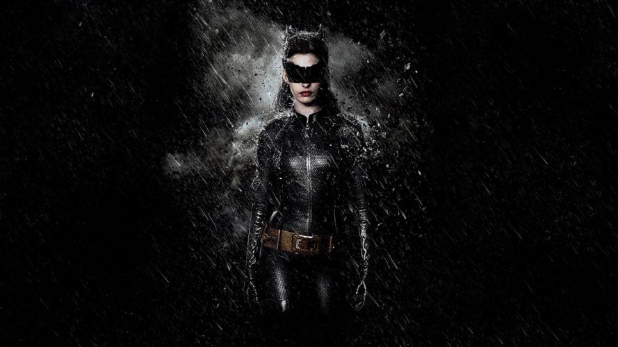 Anne Hathaway dark Catwoman Batman The Dark Knight Rises wallpaper