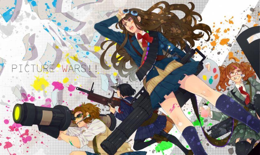 guns weapons anime wallpaper