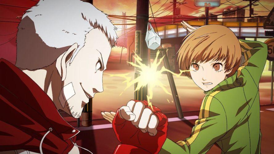 Persona series Satonaka Chie Sanada Akihiko Persona 4: Arena wallpaper