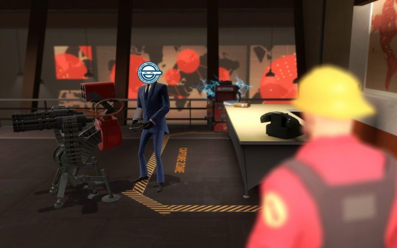 Spy TF2 laughing man Team Fortress 2 Ghost in the Shell wallpaper