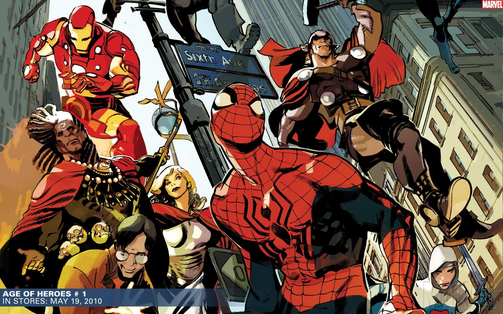 Imagenes De Ironman Para Fondo De Pantalla: Iron Man Thor Spider-Man Marvel Comics Wallpaper