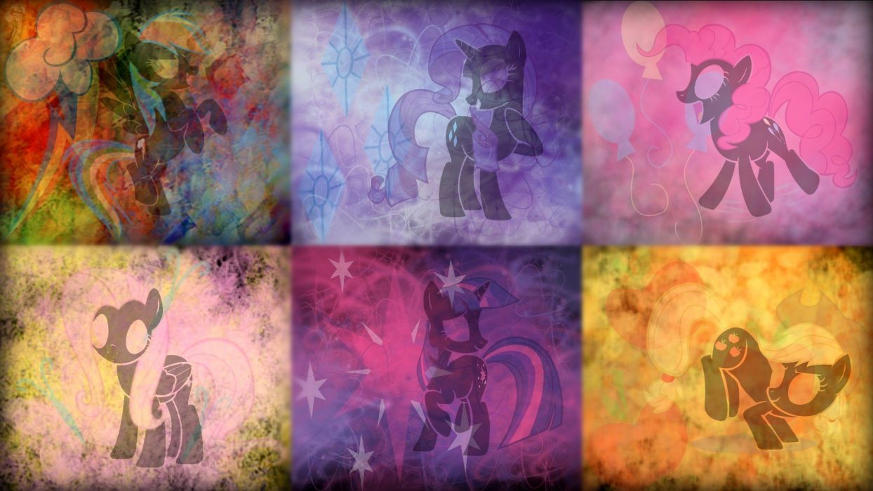 Fluttershy ponies Rainbow Dash Twilight Sparkle Rarity Pinkie Pie Applejack My Little Pony: Friendship is Magic Mane 6 wallpaper