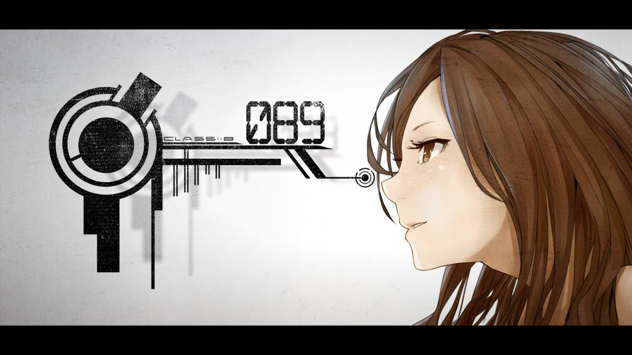 Brunettes Long Hair Brown Eyes Numbers Profile Anime Girls Faces
