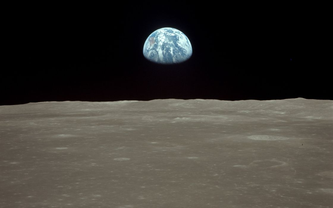 outer space earthrise wallpaper