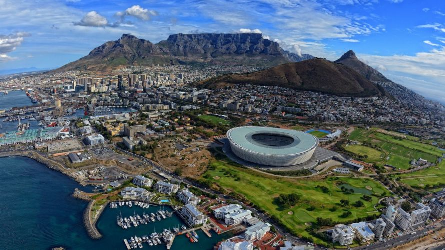 cityscapes South Africa stadium wallpaper